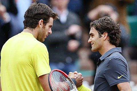 Federer vs Del Potro Liput