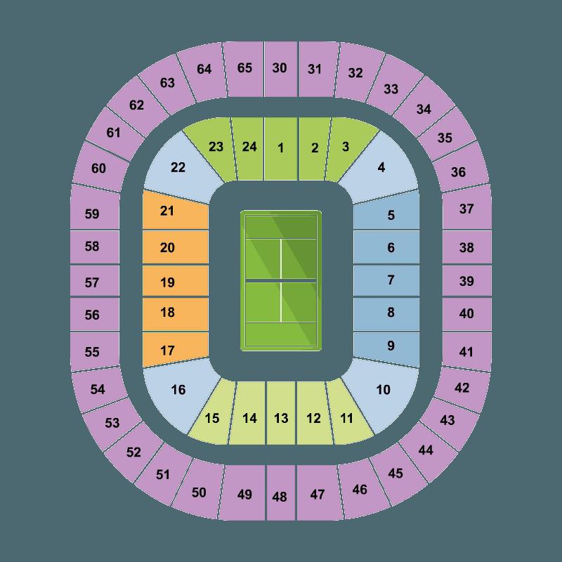 Australian open 2016 wednesday night session rod laver for Door 9 rod laver arena
