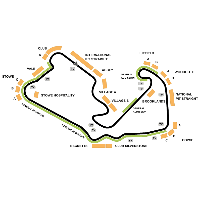 Woodlands Campsite At The Formula 1: تذاكر British Formula 1 Grand Prix 2016