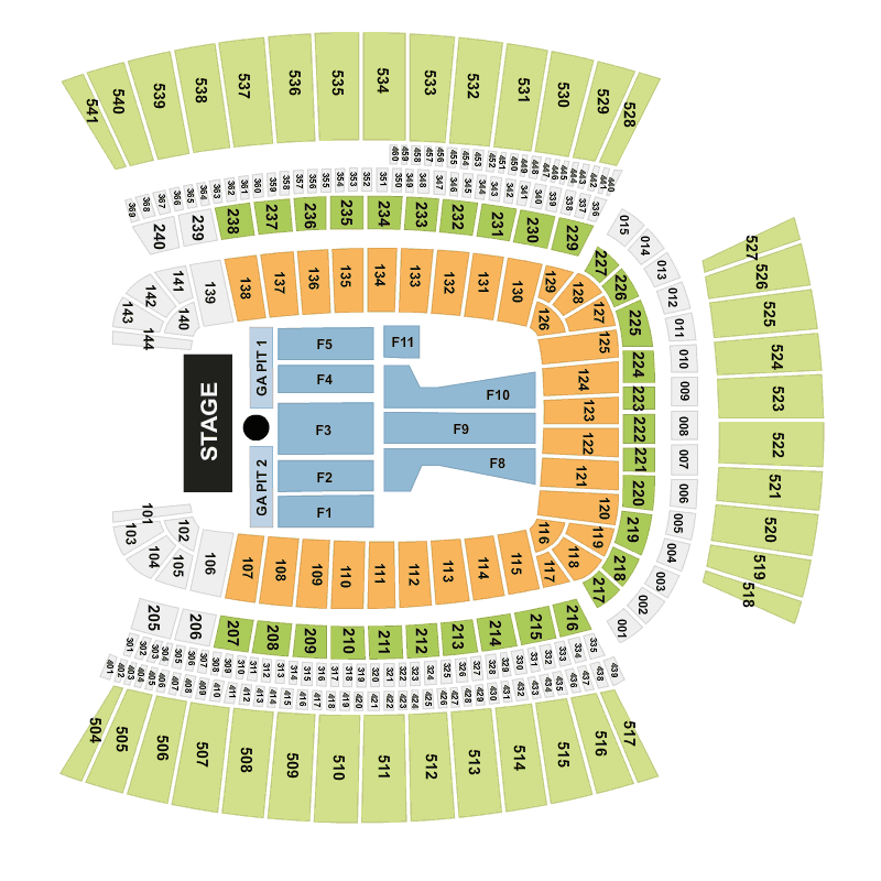 Guns n 39 roses heinz field pittsburgh tickets tue 12 jul for Floor 2 pittsburgh