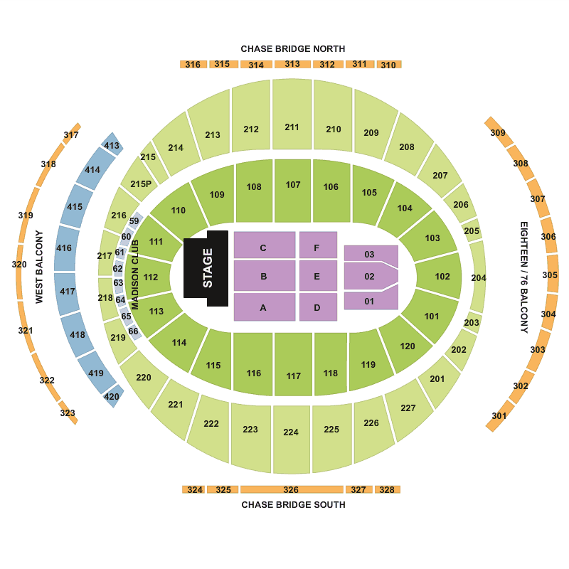 Madison Square Garden Seating Chart  Bing Images