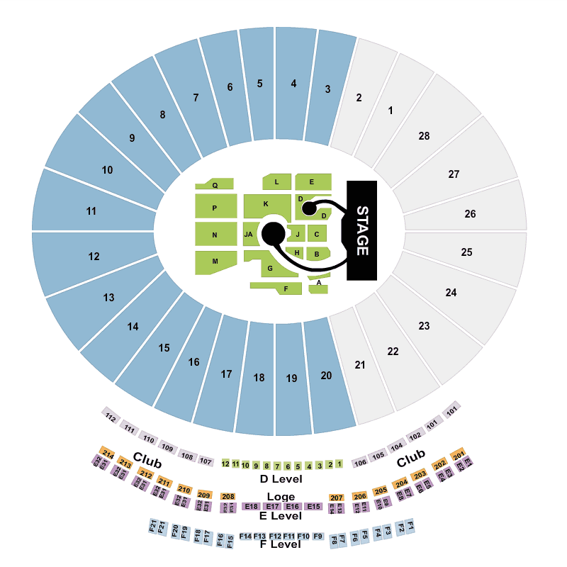 Rose Bowl Concert Seating Chart Coldplay Review Home Decor